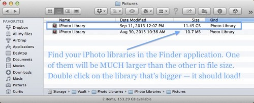 iPhoto photos missing disappear issue